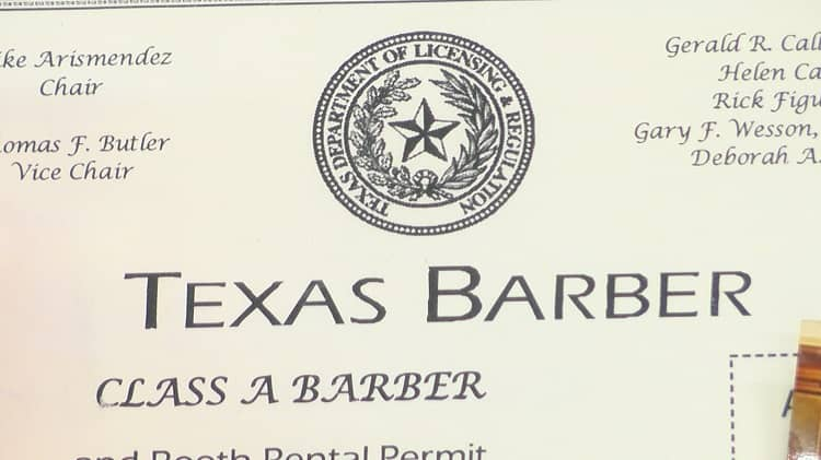 Step-by-step guide to get Texas barber license.